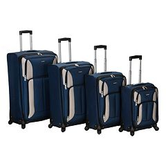 Rockland Luggage, 4 pc Spinner Luggage Set