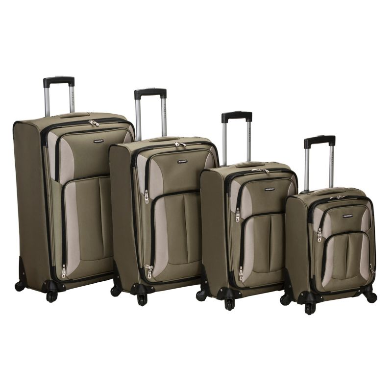 Rockland 4-Piece Spinner Luggage Set, Green