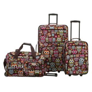 Rockland 3-Piece Wheeled Luggage Set