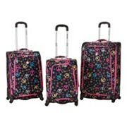 Rockland 3 pc Polo Equipment Spinner Luggage Set