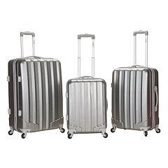 Rockland 3 pc Hardside Spinner Glossy Luggage Set
