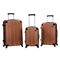 Rockland 3-Piece Hardside Spinner Matte Luggage Set