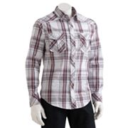 Helix Plaid Western Button-Down Shirt - Men