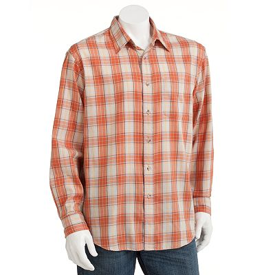 Arrow Plaid Twill Casual Button-Down Shirt