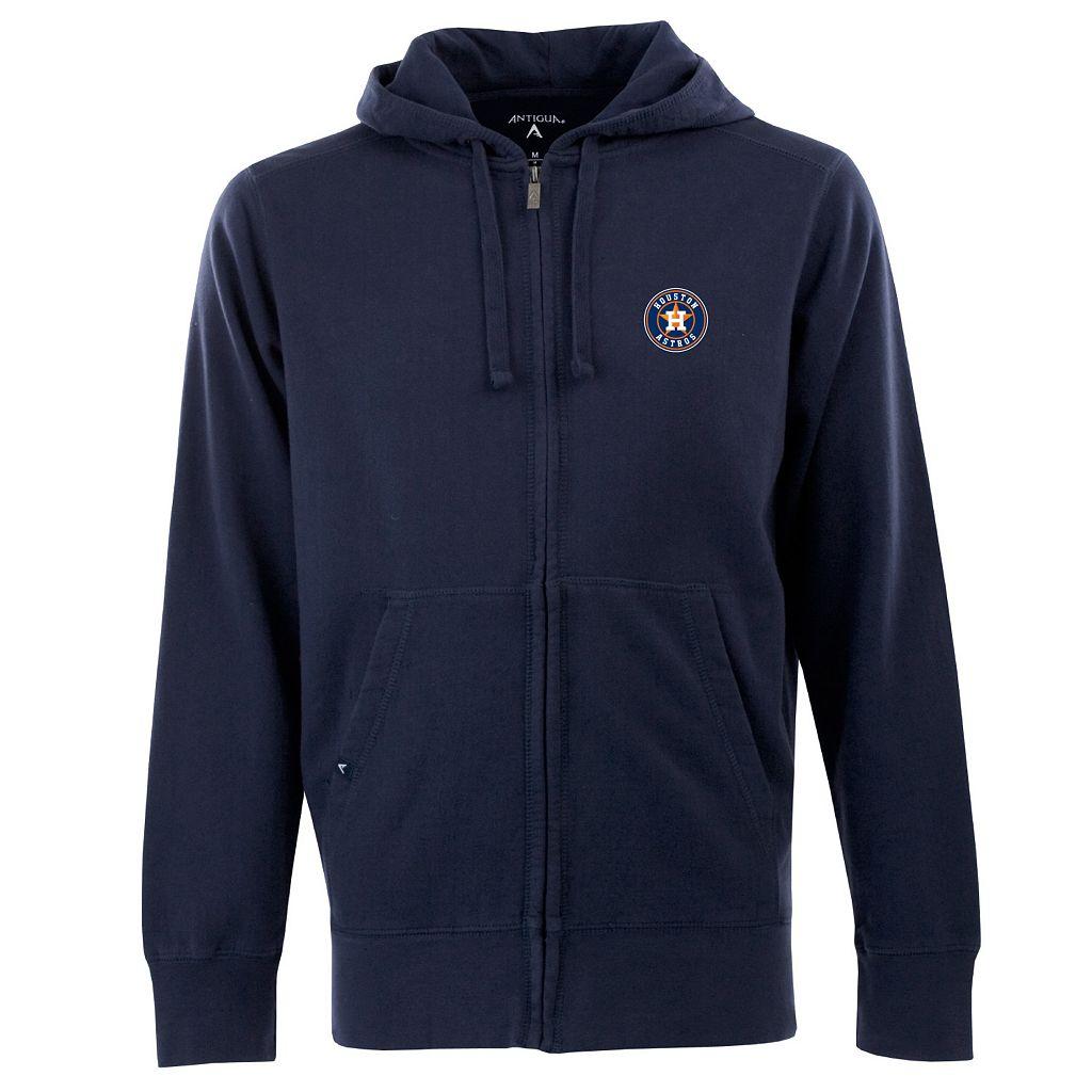 Men's Houston Astros Signature Zip Front Fleece Hoodie