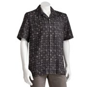 Batik Bay Silk Patterned Casual Button-Down Shirt - Big and Tall