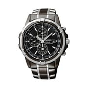 Seiko Solar Two Tone Stainless Steel Chronograph Watch - SSC143 - Men