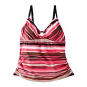 Suit Yourself! Striped Tummy Thinner Tankini Top