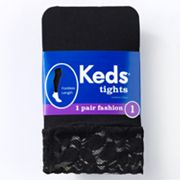 Keds Lace-Trim Footless Tights - Girls