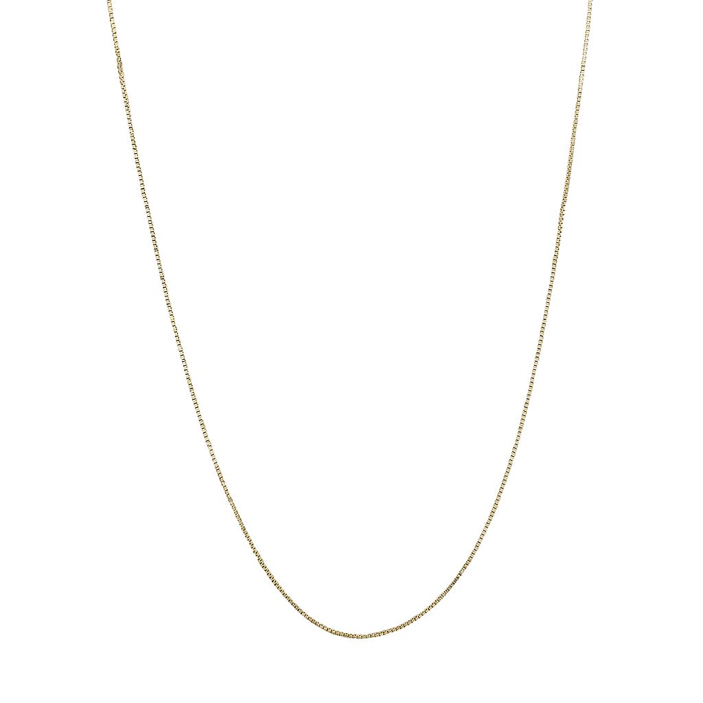 Everlasting Gold 14k Gold Box Chain Necklace - 16-in.