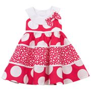 Rare Editions Polka-Dot Tiered Sundress - Baby