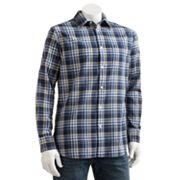 SONOMA life + style Plaid Poplin Casual Button-Down Shirt