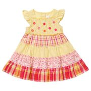 Youngland Tiered Seersucker Dress - Toddler