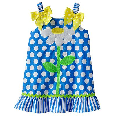 Youngland Polka-Dot Flower Sundress - Toddler