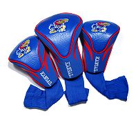 Team Golf Kansas Jayhawks 3-pc. Contour Head Cover Set