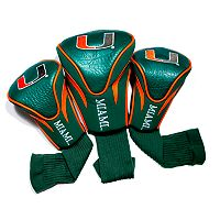 Team Golf Miami Hurricanes 3-pc. Contour Head Cover Set