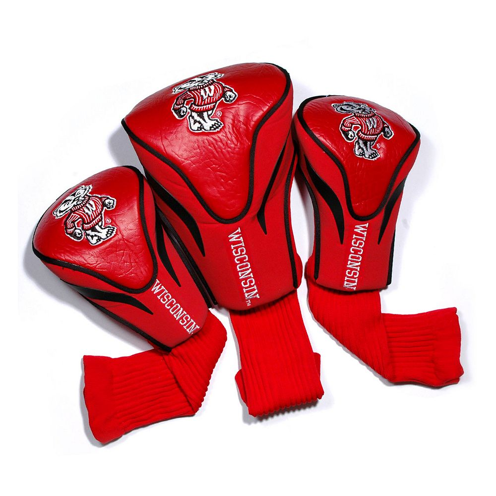 Team Golf Wisconsin Badgers 3-pc. Contour Head Cover Set