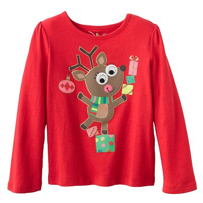 Jumping Beans Reindeer Googly Eye Tee - Toddler
