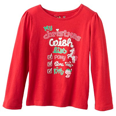 Jumping Beans Holiday Wish List Tee - Toddler
