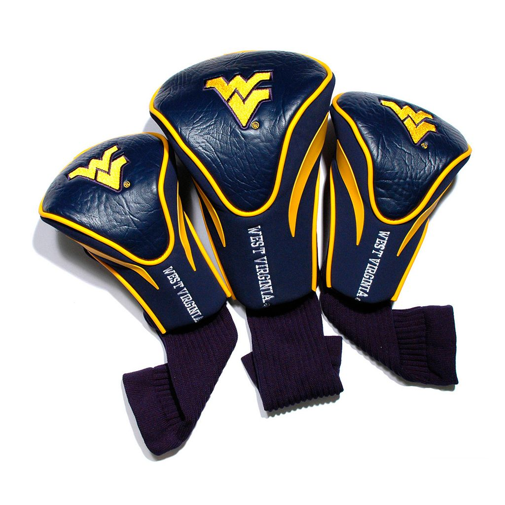 Team Golf West Virginia Mountaineers 3-pc. Contour Head Cover Set