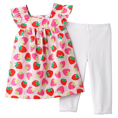 Carter's Strawberry Tunic and Capri Leggings Set - Toddler