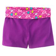 Jumping Beans Heart Yoga Shorts - Girls 4-7