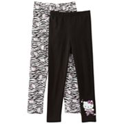 Hello Kitty 2-pk. Zebra and Solid Leggings - Girls 4-7