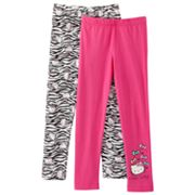 Hello Kitty 2-pk. Solid Leggings - Girls 4-7
