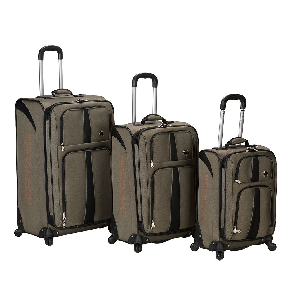Rockland Polo Equipment 3-Piece Spinner Luggage Set