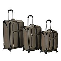 Rockland Polo Equipment 3 pc Spinner Luggage Set