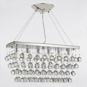 Gallery 6-Light Retractable Crystal Chandelier