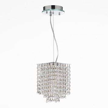 Gallery 1-Light Retractable Crystal Chandelier