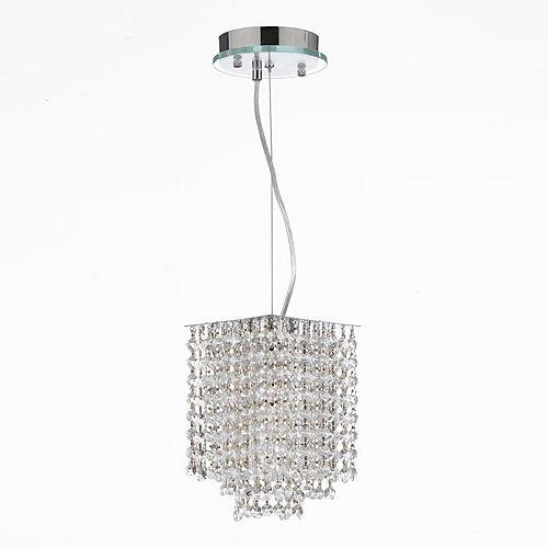 Gallery 1-Light Retractable Crystal Chandelier
