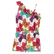Jumping Beans Butterfly Asymmetrical Romper - Girls 4-7