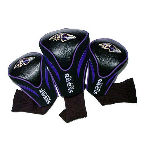 Team Golf Baltimore Ravens 3-pc. Contour Head Cover Set