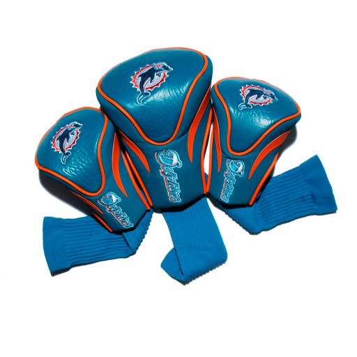 Team Golf Miami Dolphins 3-pc. Contour Head Cover Set