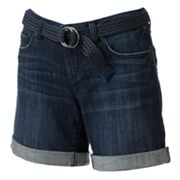 LC Lauren Conrad Cuffed Denim Shorts