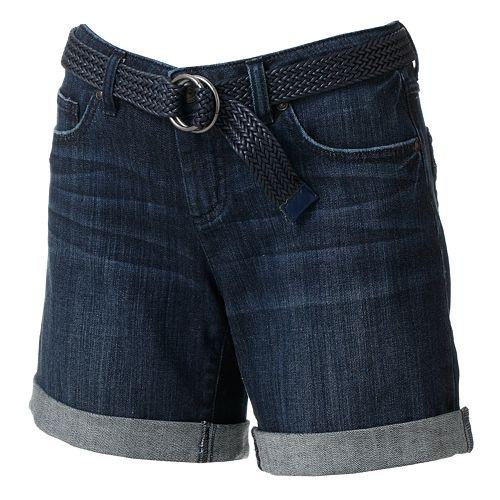 LC Lauren Conrad Cuffed Denim Shorts