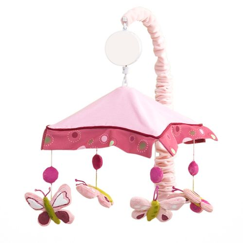 Lambs and Ivy Raspberry Swirl Musical Mobile