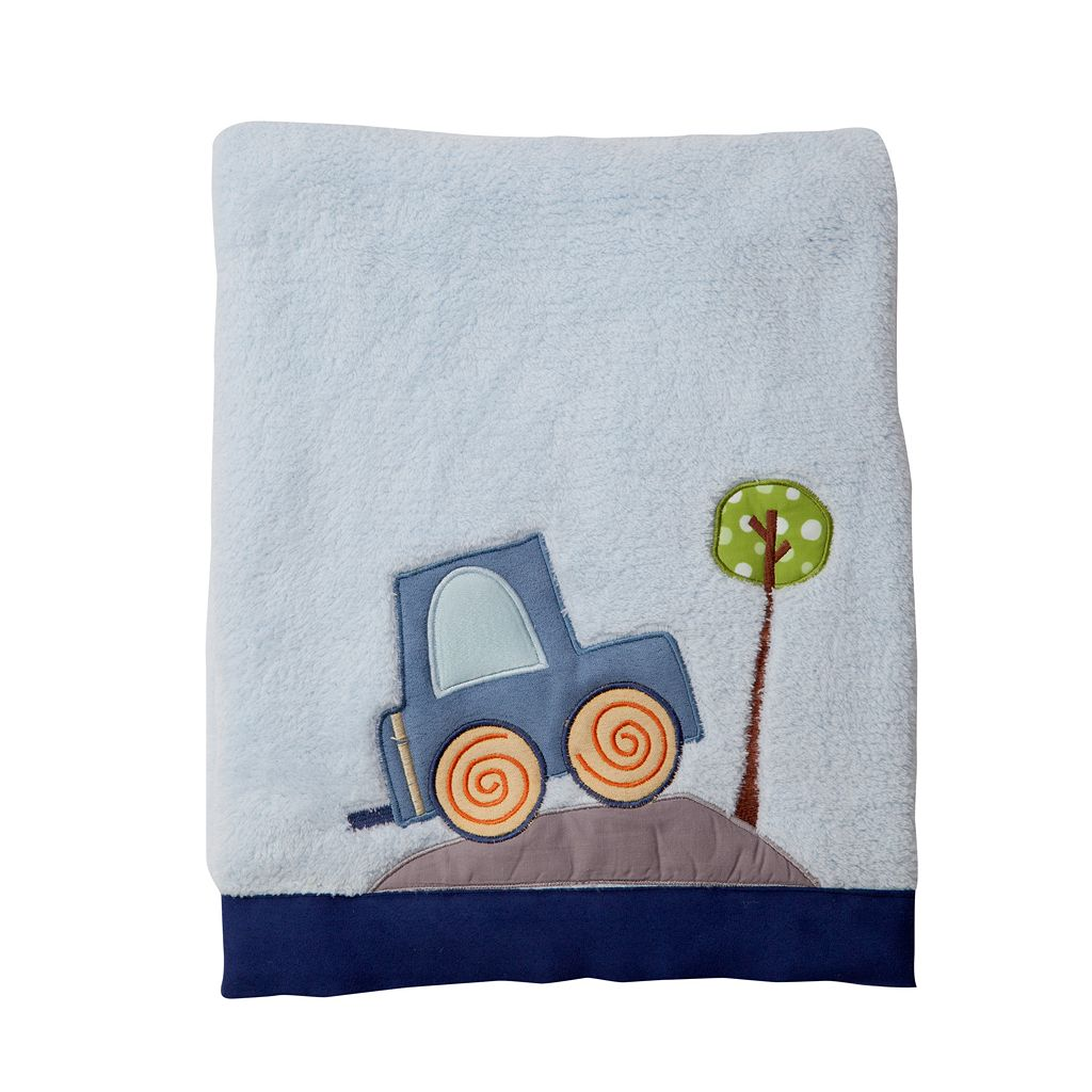 Lambs & Ivy Little Traveler Fleece Blanket