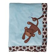 Lambs and Ivy Giggles Fleece Blanket