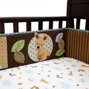 Lambs and Ivy Animal Antics Crib Sheet