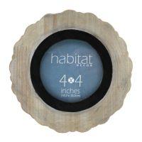 "Fetco Habitat Decor Rosy 4"" x 4"" Round Frame"