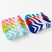 Pink Cookie 7-pk. Zigzag No-Show Socks - Girls