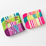 Pink Cookie 7-pk. Zebra No-Show Socks - Girls