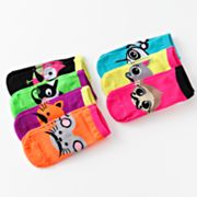 Pink Cookie 7-pk. Mustache Animal No-Show Socks - Girls
