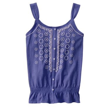 Mudd Geometric Peasant Tank - Girls 7-16