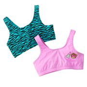 SO 2-pk. Monkey Zebra Sports Bras - Girls