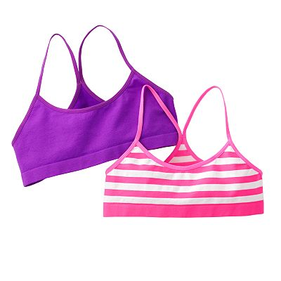 SO 2-pk. Striped Racerback Crop Tops - Girls