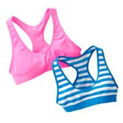SO 2-pk. Neon Striped Sports Bras - Girls